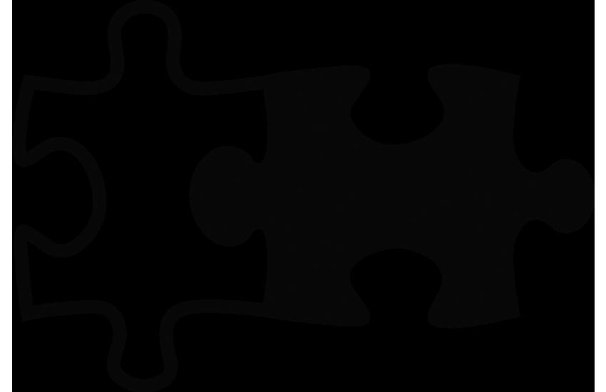 Bewerber und Unternehmen passen zusammen zwei Puzzlestücke
